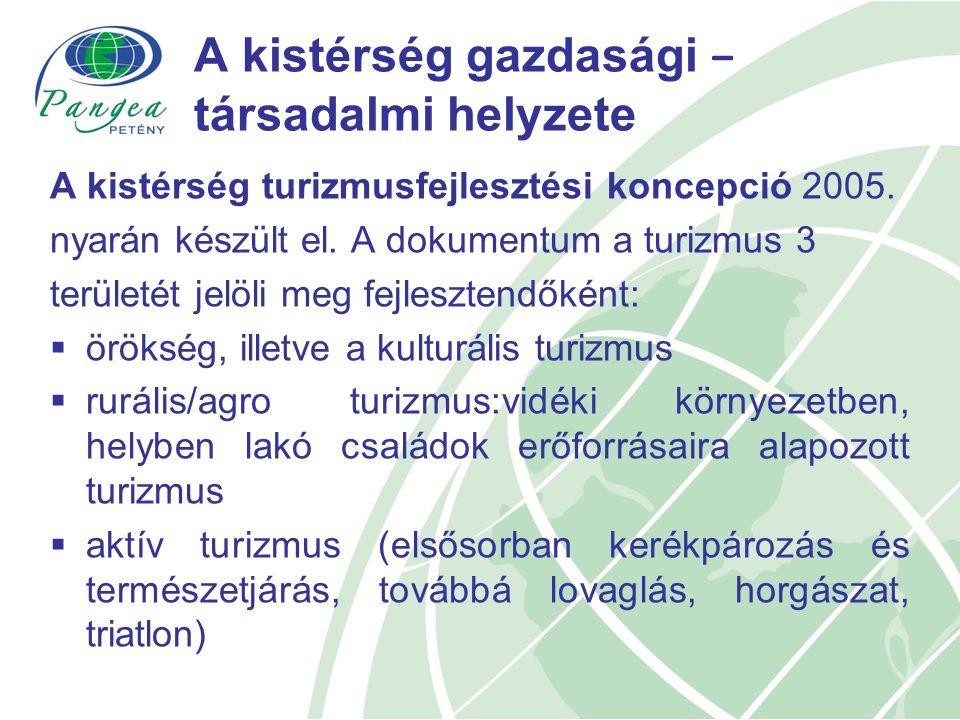 A kistérség gazdasági − társadalmi helyzete A kistérség turizmusfejlesztési koncepció 2005.
