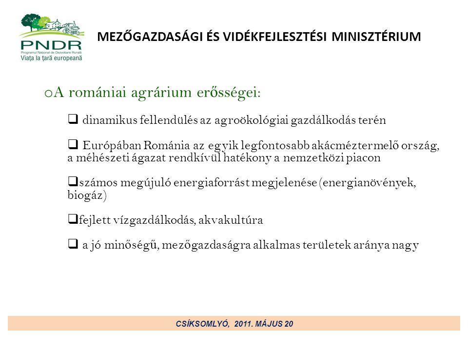 MEZŐGAZDASÁGI ÉS VIDÉKFEJLESZTÉSI MINISZTÉRIUM CSÍKSOMLYÓ, 2011.