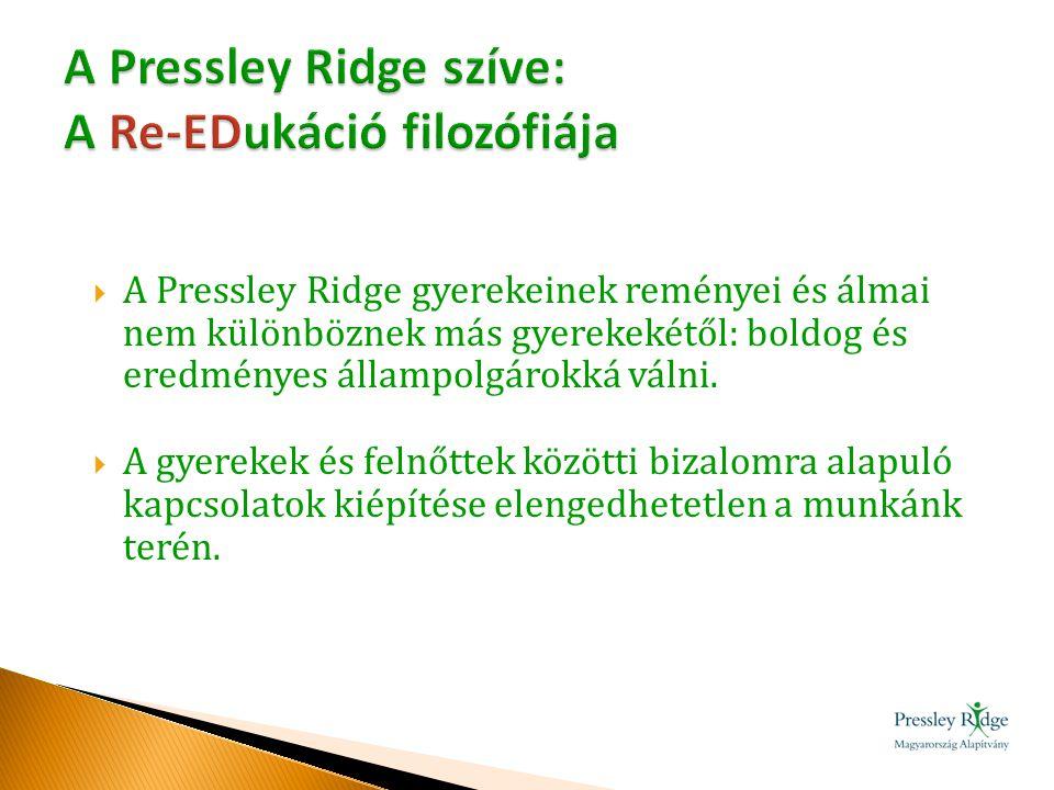  A Pressley Ridge gyerekeinek reményei és álmai nem különböznek más gyerekekétől: boldog és eredményes állampolgárokká válni.