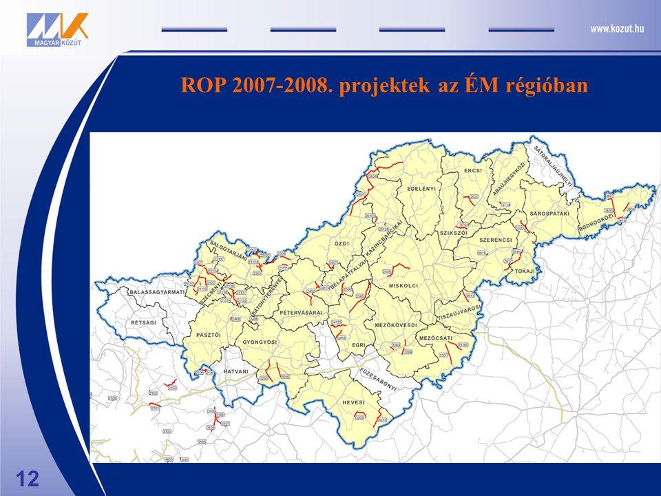 ROP 2007-2008. projektek az ÉM régióban 12