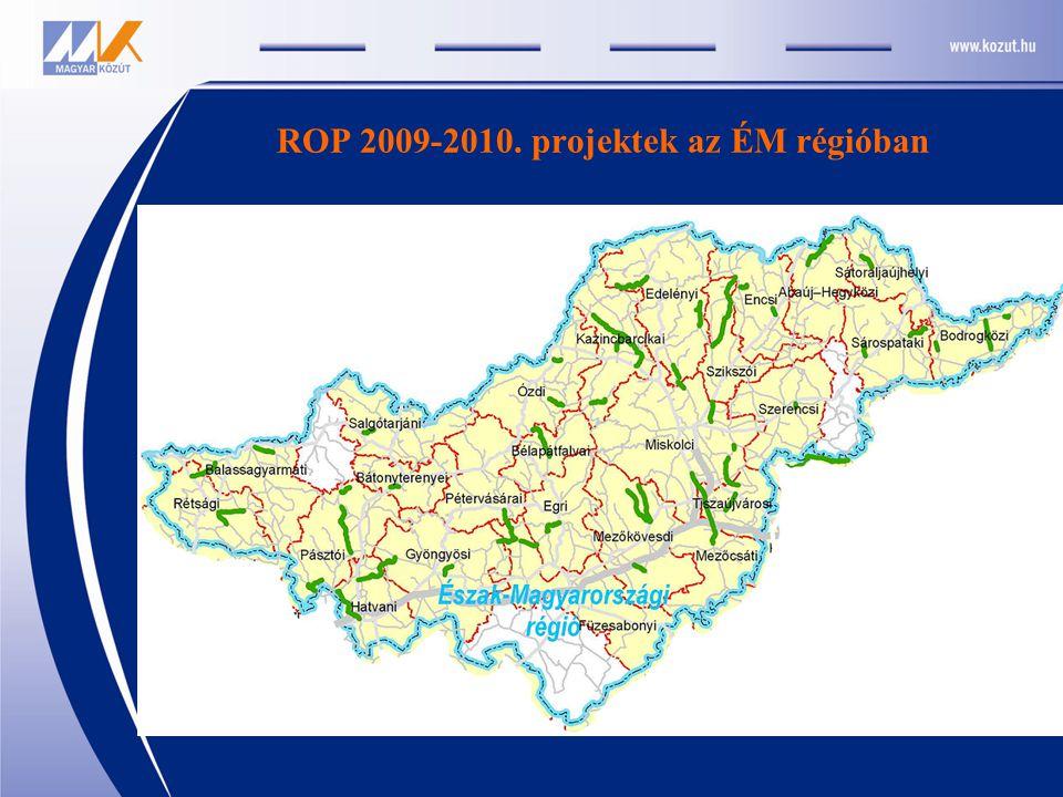 ROP 2009-2010. projektek az ÉM régióban