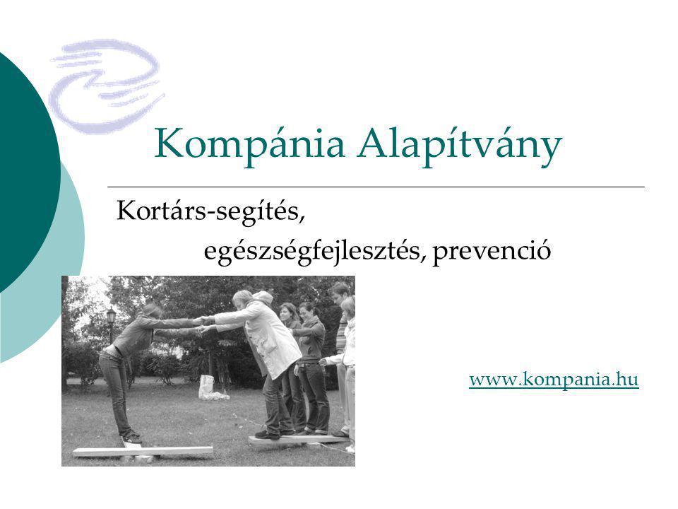 Kompánia Alapítvány Kortárs-segítés, egészségfejlesztés, prevenció www.kompania.hu