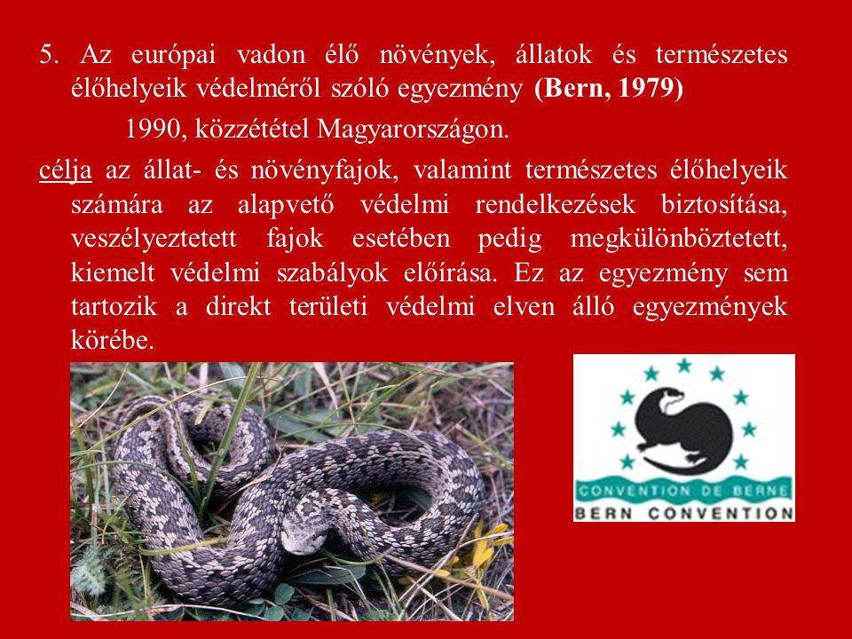 6.A biológiai sokféleségről szóló egyezmény (Rio de Janeiro, 1992) = CBD 1995 évi LXXXI.