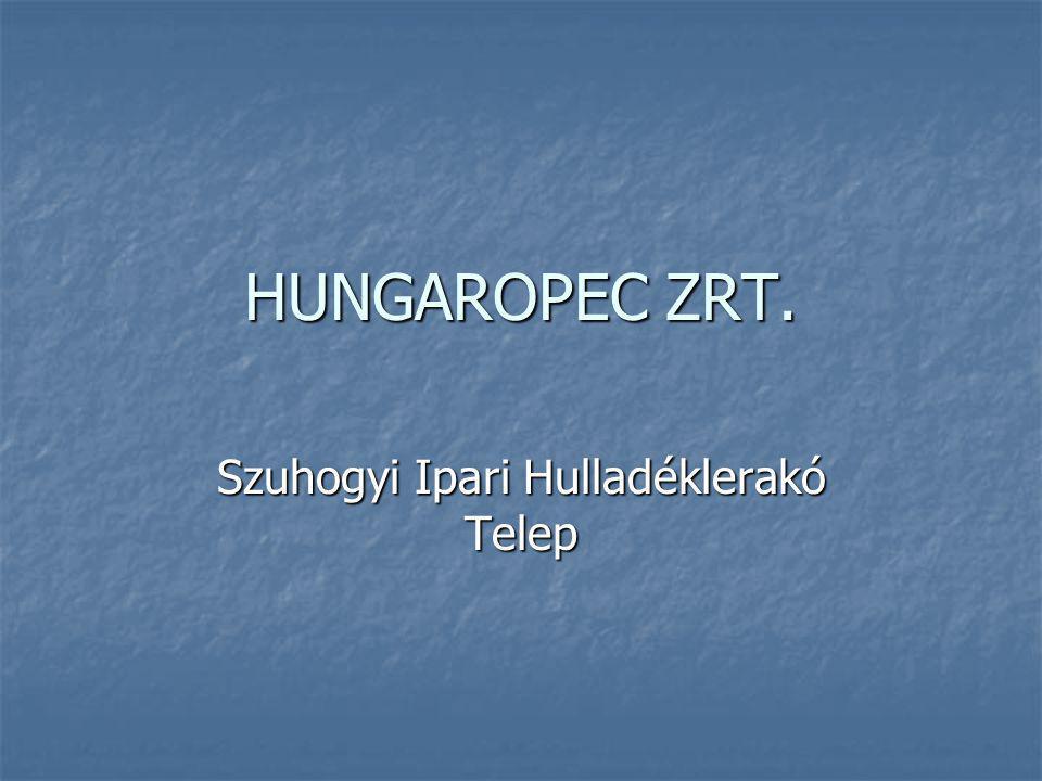 HUNGAROPEC ZRT. Szuhogyi Ipari Hulladéklerakó Telep