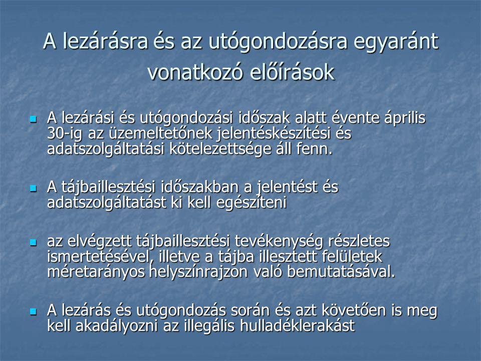 Hulladék lerakás 2.HUNGAROPEC Rt.