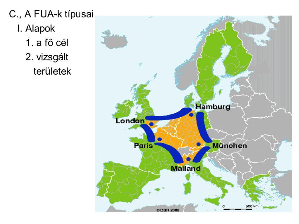 C., A FUA-k típusai I. Alapok 1. a fő cél 2. vizsgált területek
