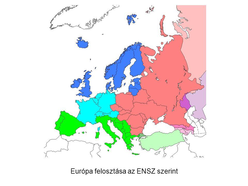 Európa felosztása az ENSZ szerint