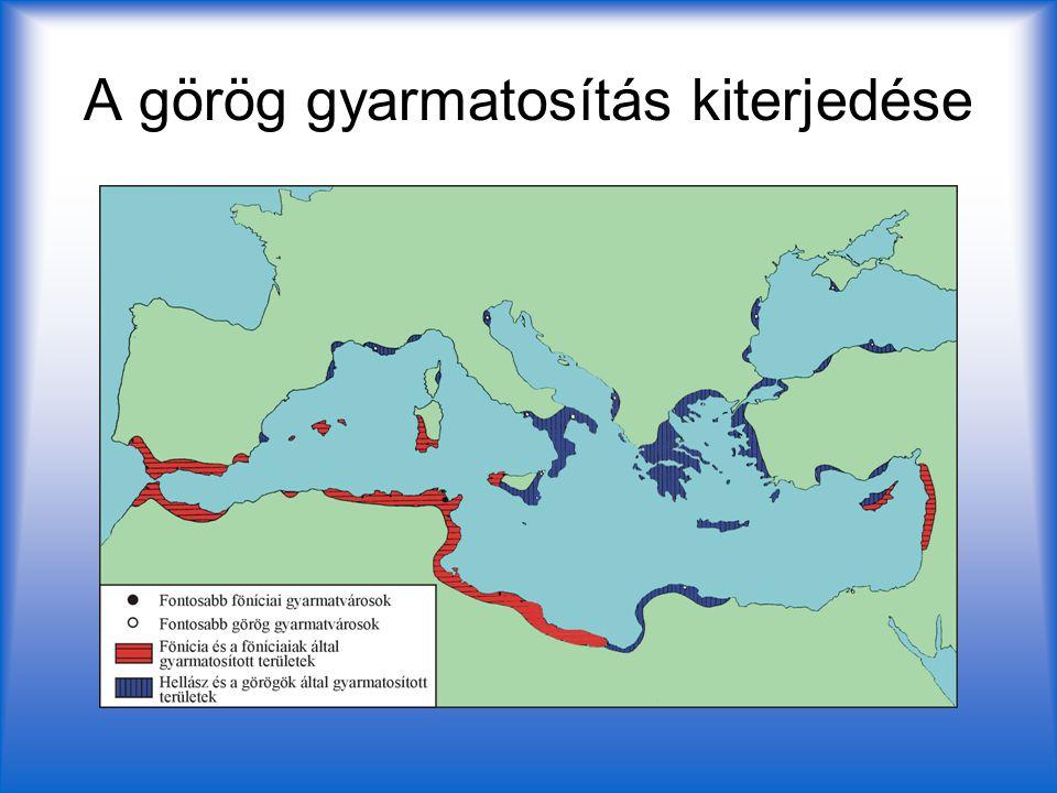 A görög gyarmatosítás kiterjedése