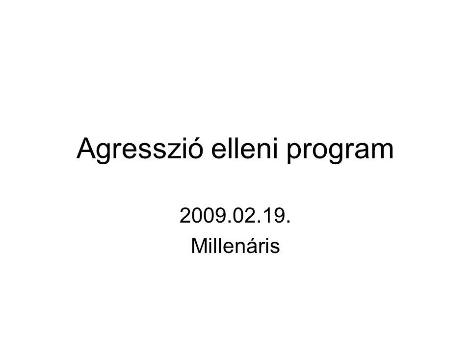 Agresszió elleni program 2009.02.19. Millenáris