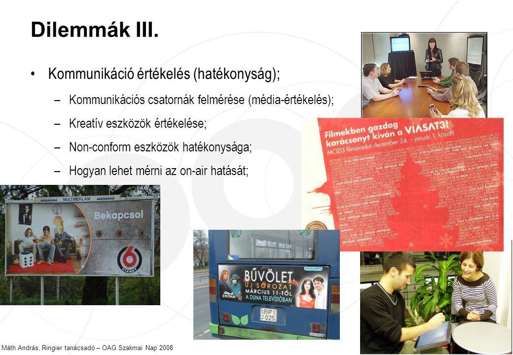 Máth András, Ringier tanácsadó – OAG Szakmai Nap 2008 23 Dilemmák III.
