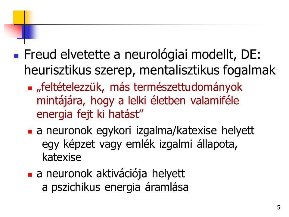 """6 FREUD: A pszichikus apparátus struktúrája Topológiai modell tudattalan tudatelőttes tudatos Strukturális modell ösztönén én felettes én Freud elméleti építményének """"metapszichológiája : """"a PA spekulatív szupersturktúrája"""