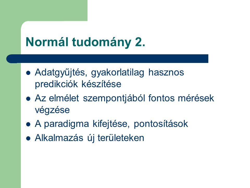 Normál tudomány 3.