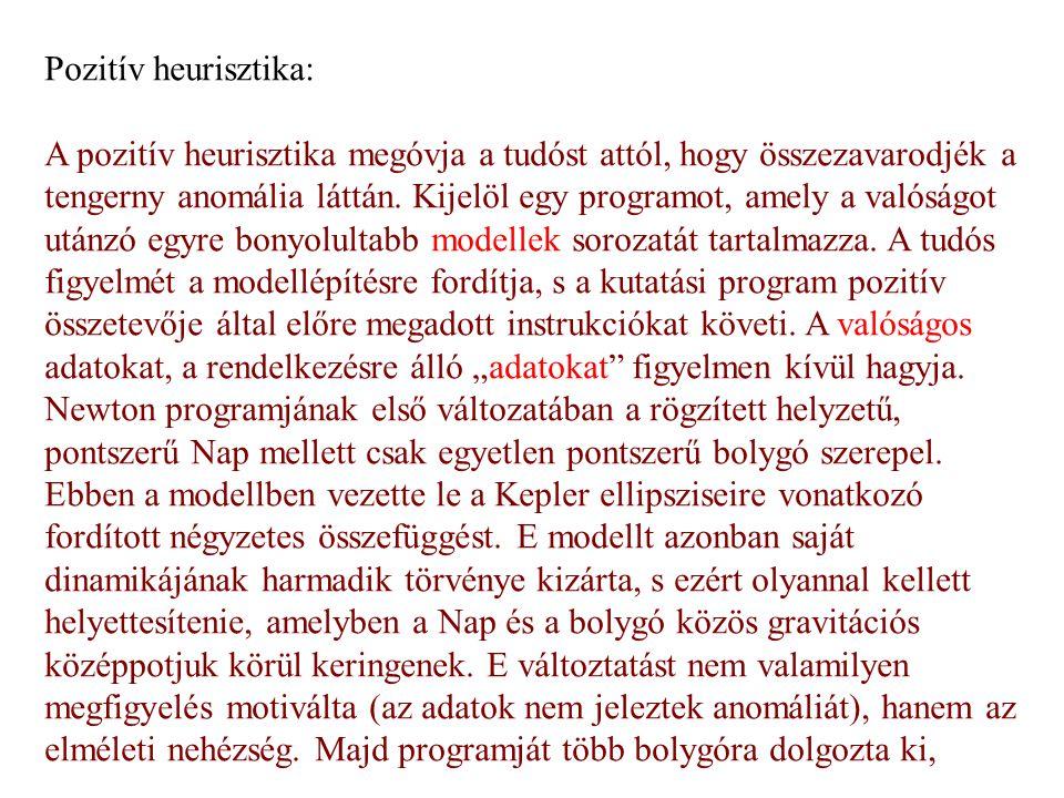 Pozitív heurisztika: A pozitív heurisztika megóvja a tudóst attól, hogy összezavarodjék a tengerny anomália láttán.