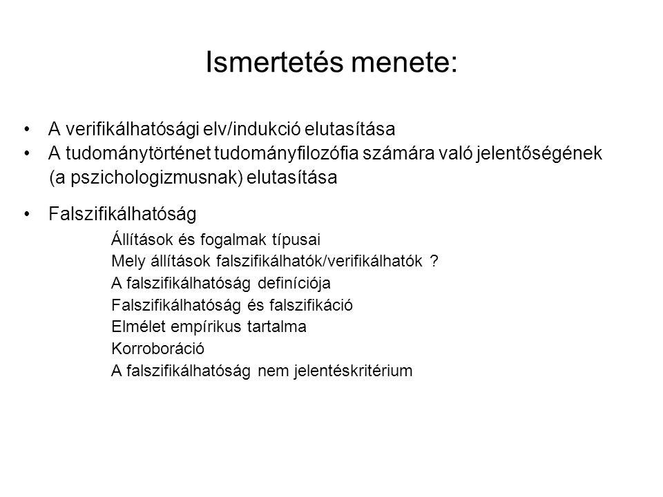 Állítások típusai III.