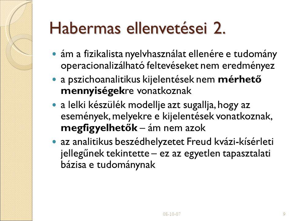 Habermas ellenvetései 2.