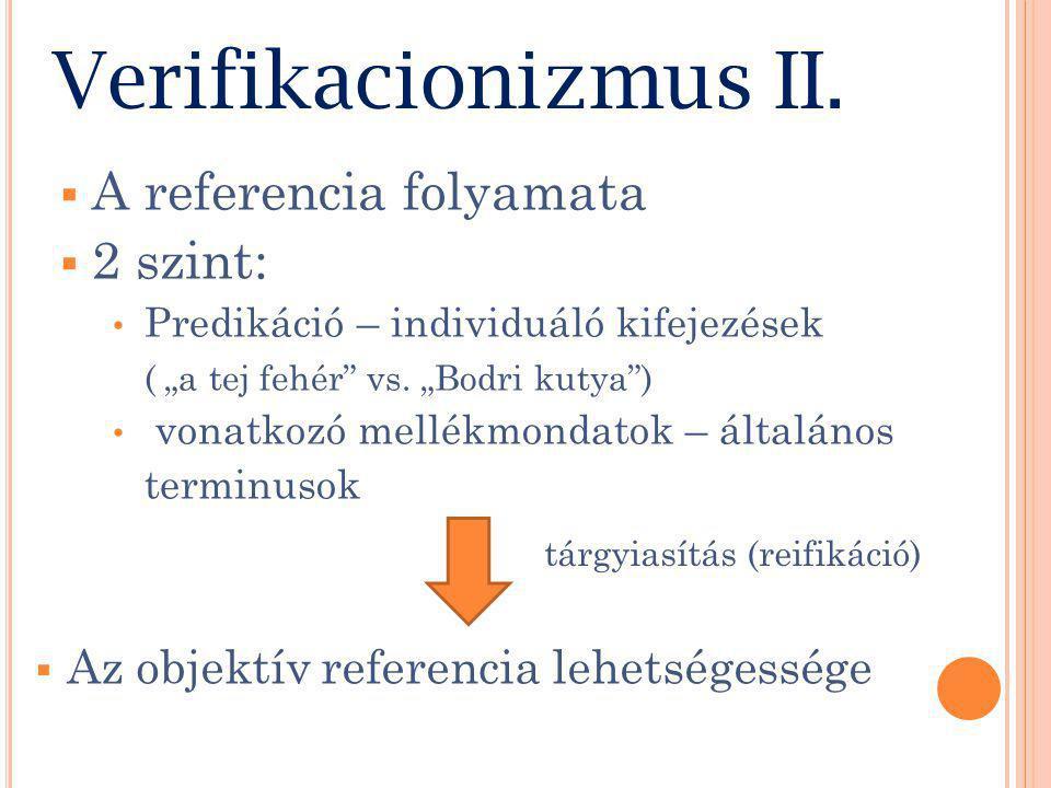 Verifikacionizmus II.