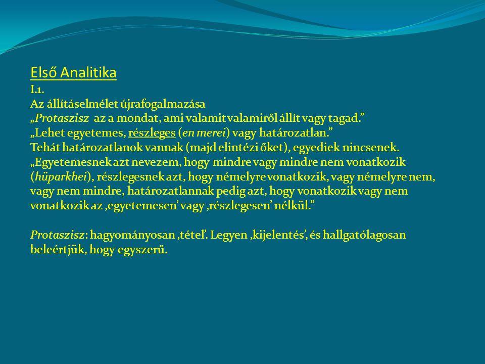 Első Analitika I.1.