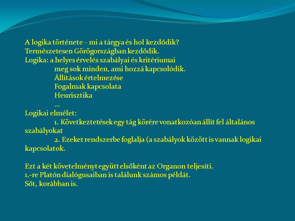 A logika története – mi a tárgya és hol kezdődik.Természetesen Görögországban kezdődik.