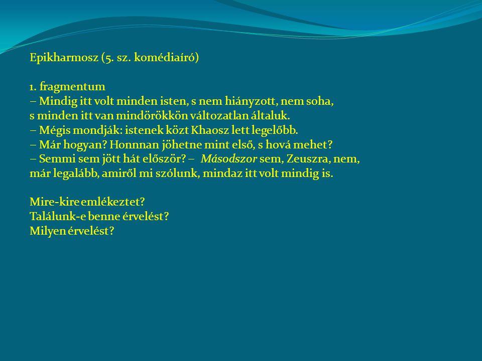 Epikharmosz (5.sz. komédiaíró) 1.
