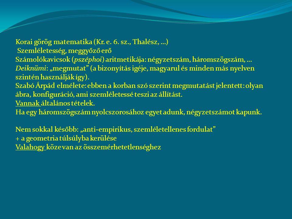 Korai görög matematika (Kr.e. 6.
