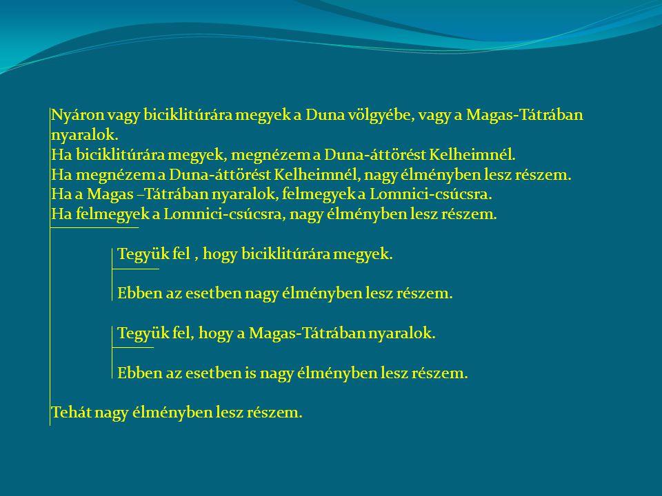 Nyáron vagy biciklitúrára megyek a Duna völgyébe, vagy a Magas-Tátrában nyaralok.