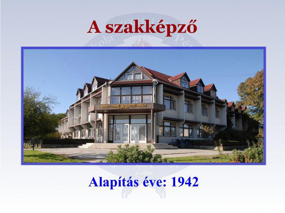 A szakképző Alapítás éve: 1942