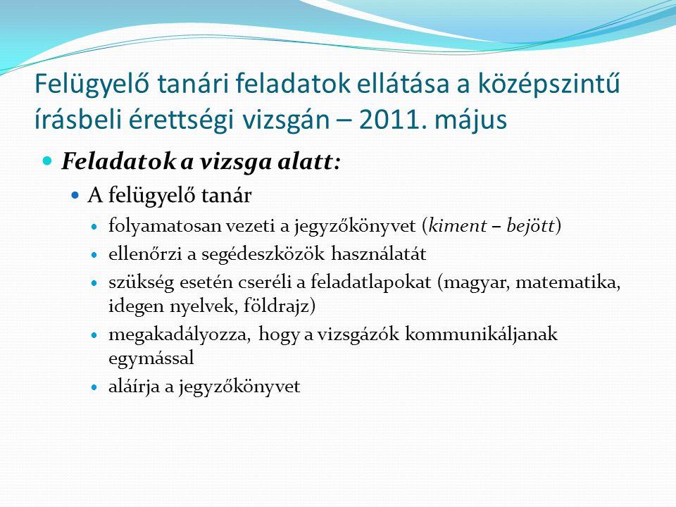 05.16 (Hétfő) – Informatika Az első ügyelők: Helyettes ügyelő: Csöngei Dezső (8:00 – 11:00)