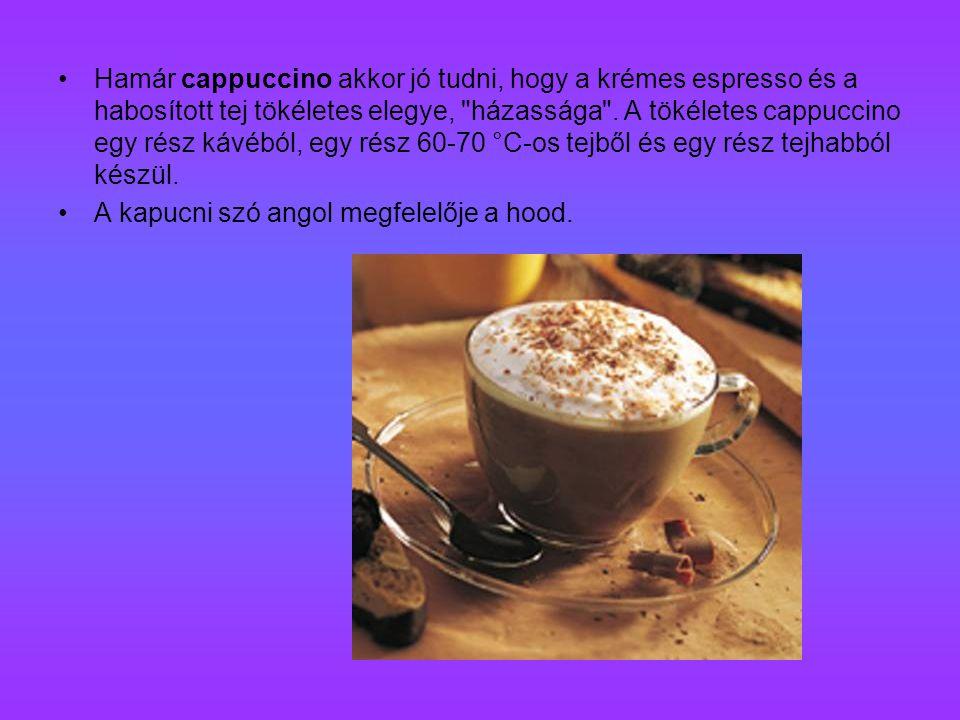 Hamár cappuccino akkor jó tudni, hogy a krémes espresso és a habosított tej tökéletes elegye, házassága .