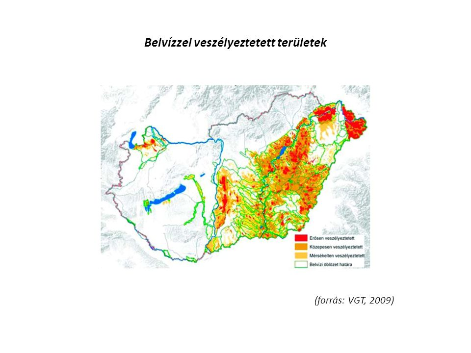 Belvízzel veszélyeztetett területek
