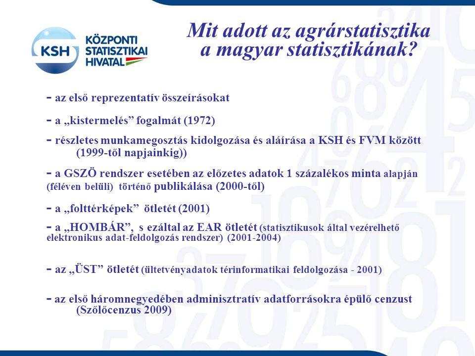 Mit adott az agrárstatisztika a magyar statisztikának.
