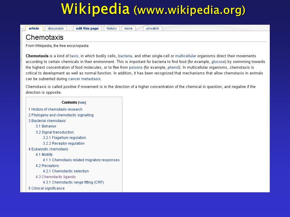 Wikipedia (www.wikipedia.org)