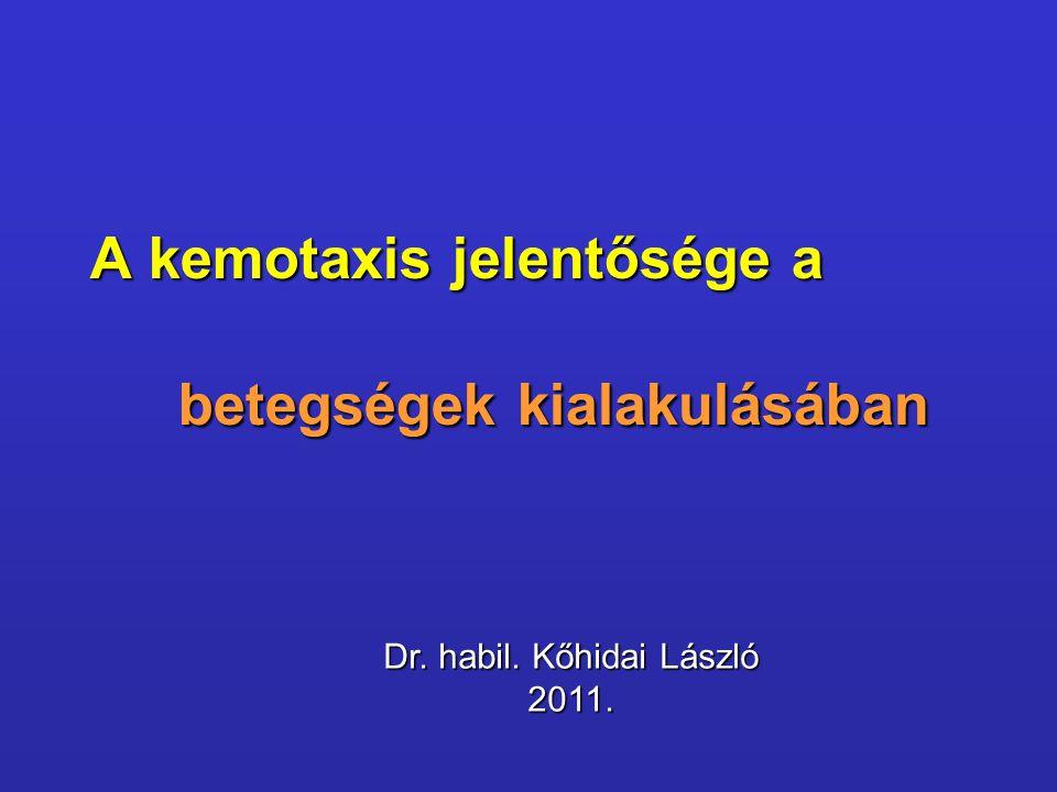 A kemotaxis jelentősége a betegségek kialakulásában Dr. habil. Kőhidai László 2011.