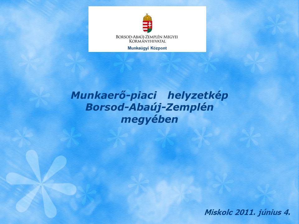 Munkaerő-piaci helyzetkép Borsod-Abaúj-Zemplén megyében Miskolc 2011. június 4. Munkaügyi Központ