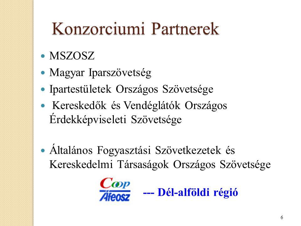 7 7 projekt - 7 régió - 1 konzorcium .