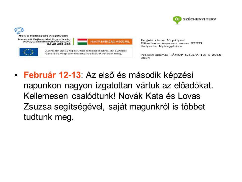Február 12-13: Az első és második képzési napunkon nagyon izgatottan vártuk az előadókat.