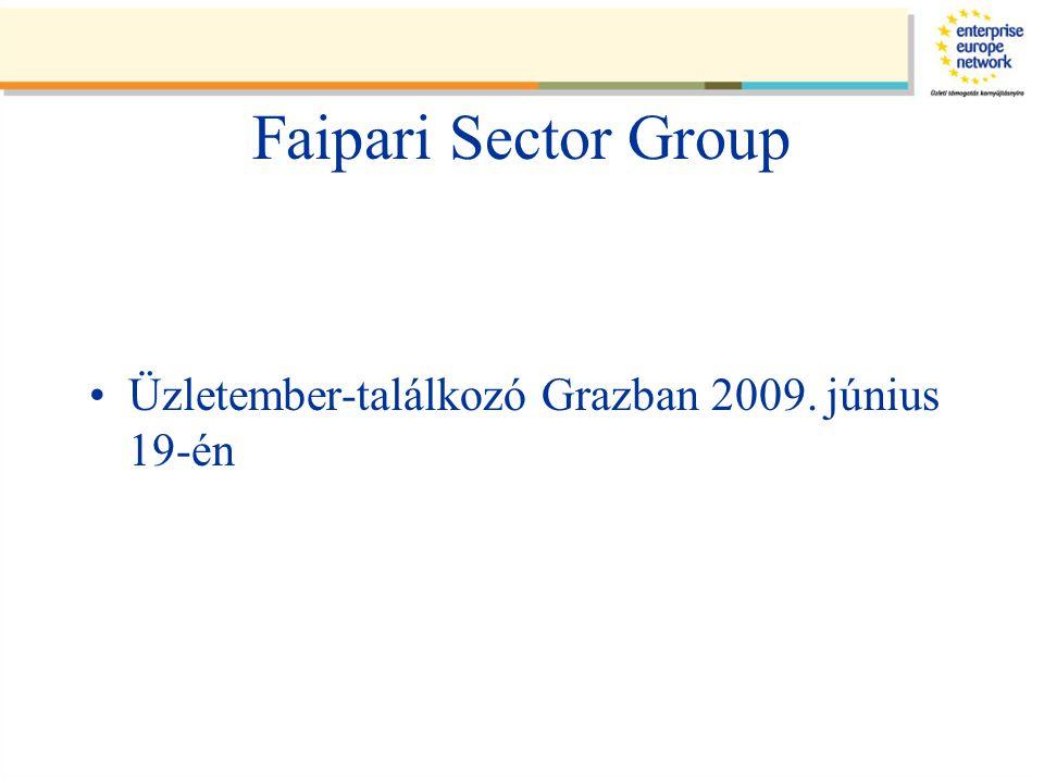 Faipari Sector Group Üzletember-találkozó Grazban 2009. június 19-én