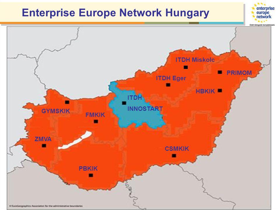 ITDH INNOSTART PRIMOM CSMKIK HBKIK PBKIK ZMVA GYMSKIK FMKIK ITDH Eger Enterprise Europe Network Hungary ITDH Miskolc