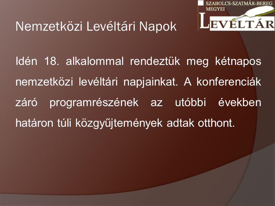 Nemzetközi Levéltári Napok Idén 18.