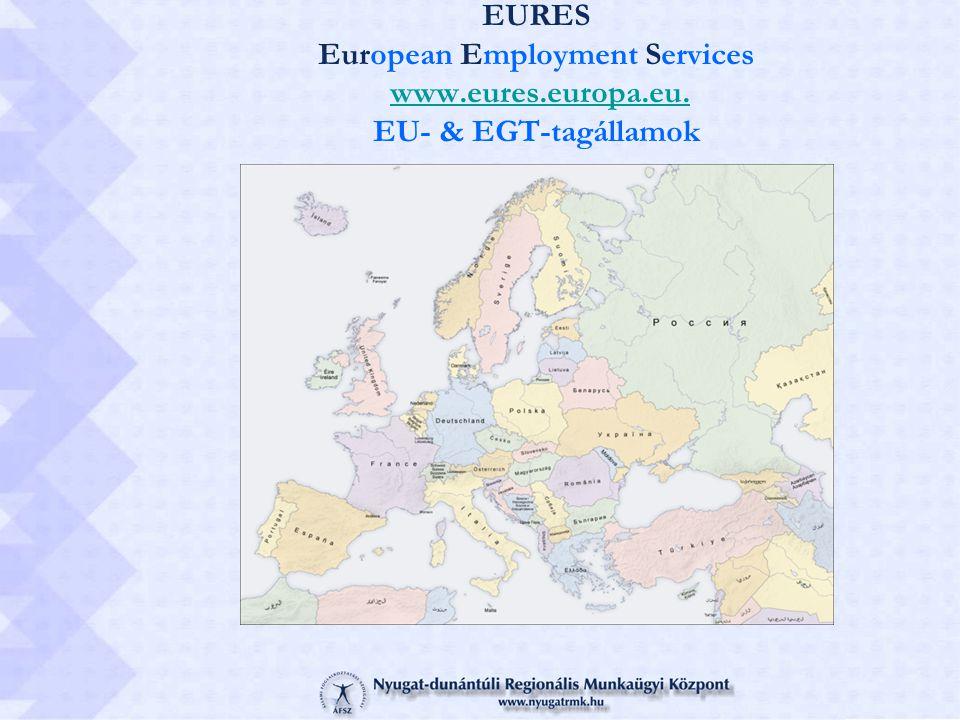 EURES European Employment Services www.eures.europa.eu. EU- & EGT-tagállamokwww.eures.europa.eu.