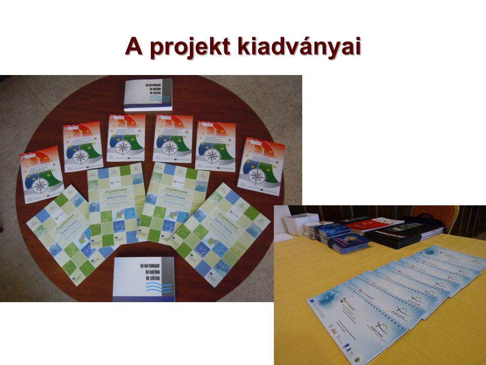 A projekt kiadványai