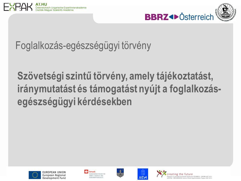 9 A Szövetségi Munkaügyi, Szociális és Fogyasztóvédelmi Minisztérium (BMASK) célkitűzései (Dr.