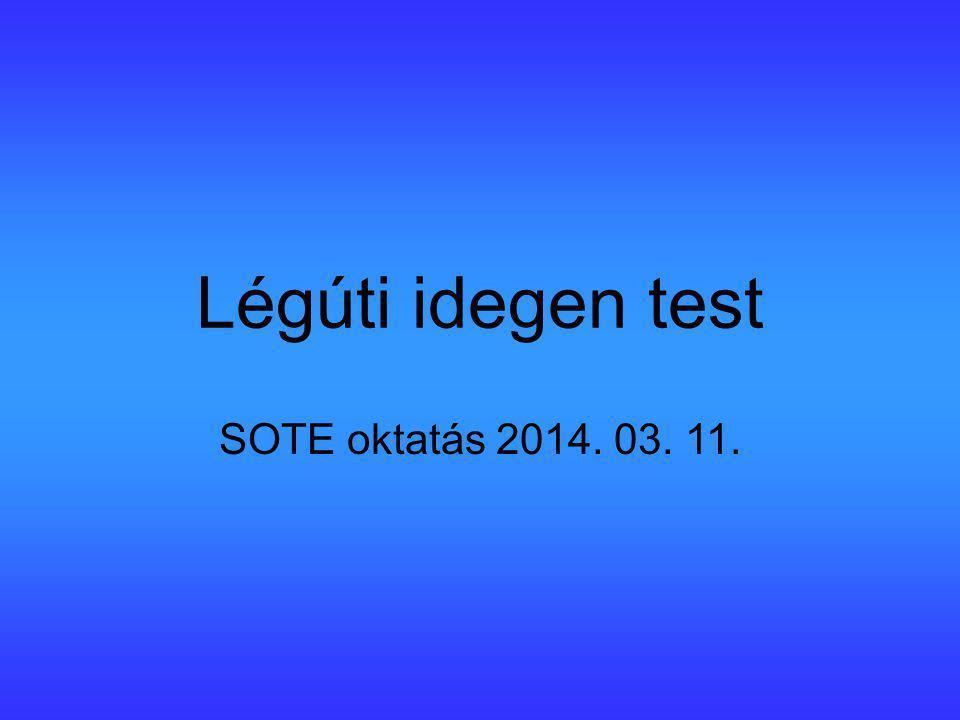 Légúti idegen test SOTE oktatás 2014. 03. 11.