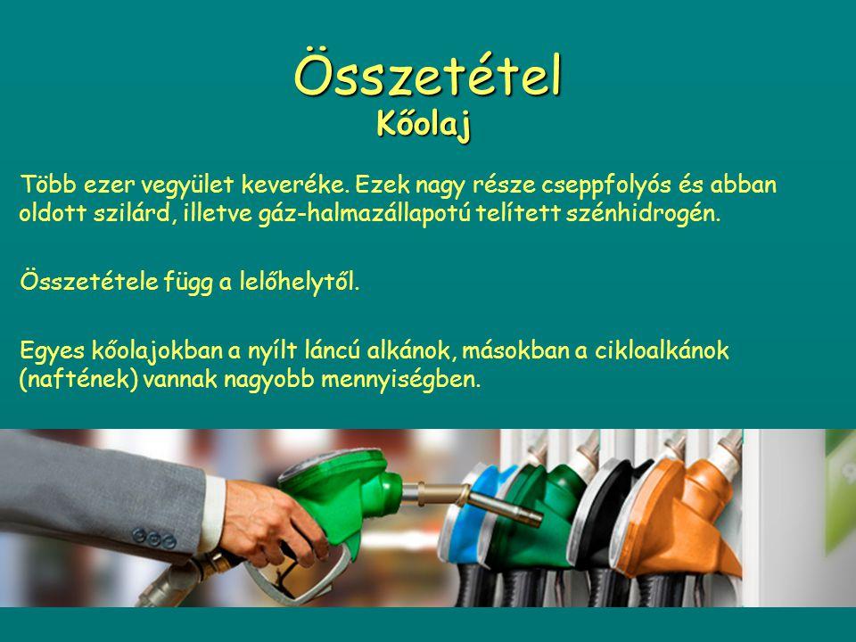 Kőolaj és Földgáz lelőhelyek Évente 2,5-3 milliárd tonna kőolajat égetnek el a világon Magyarországon évente kb.