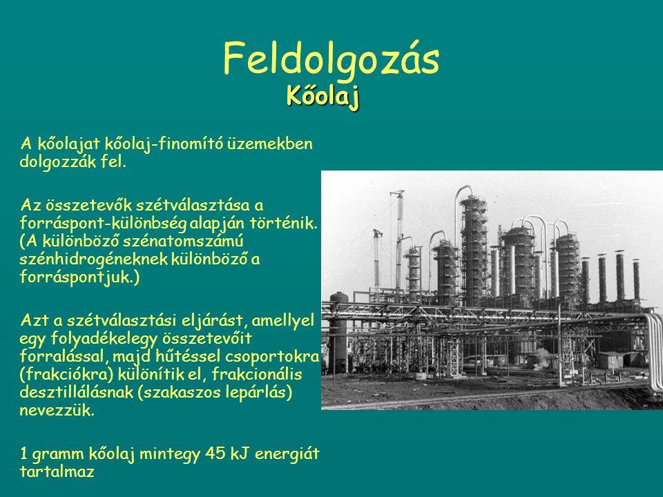 Szállítás előtt eltávolítják belőle a szennyezéseket, ezután elkülönítik belőle a gáz-halmazállapotú és illékony szén-hidrogéneket.