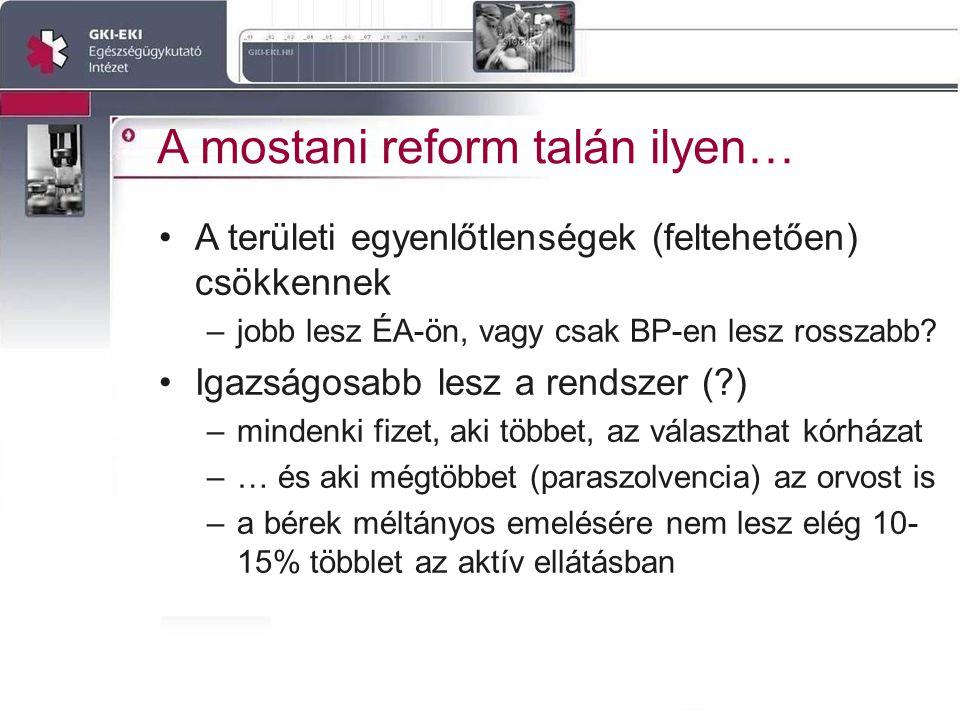 A mostani reform talán ilyen… A területi egyenlőtlenségek (feltehetően) csökkennek –jobb lesz ÉA-ön, vagy csak BP-en lesz rosszabb.