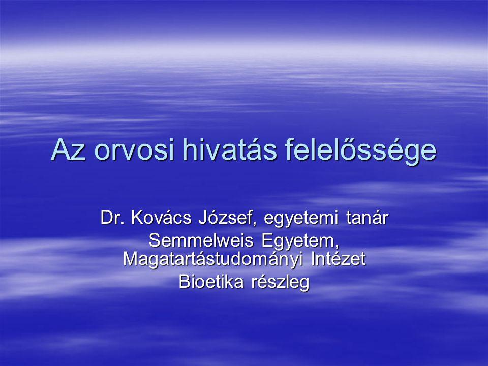 Az orvosi hivatáshoz tartozó erények I.