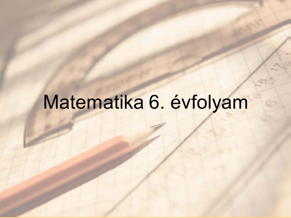 Matematika 6. évfolyam