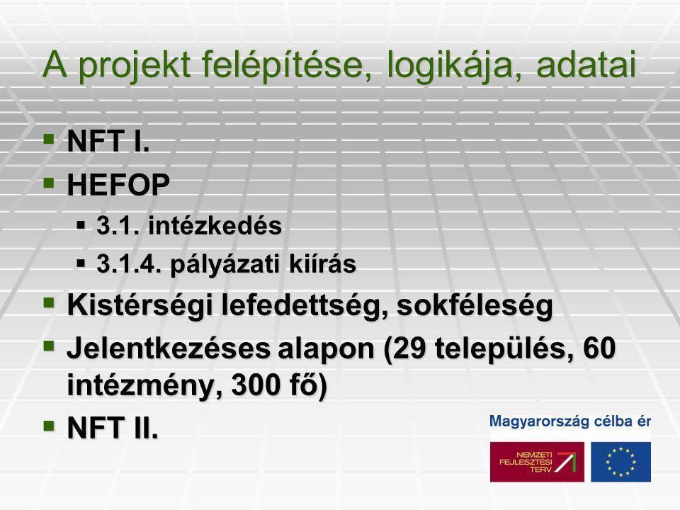 A projekt felépítése, logikája, adatai  NFT I.  HEFOP  3.1.