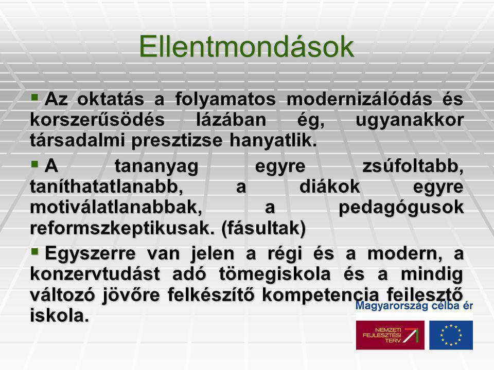 Jellemző tanulás- tudásszervezési modellek 1.1.