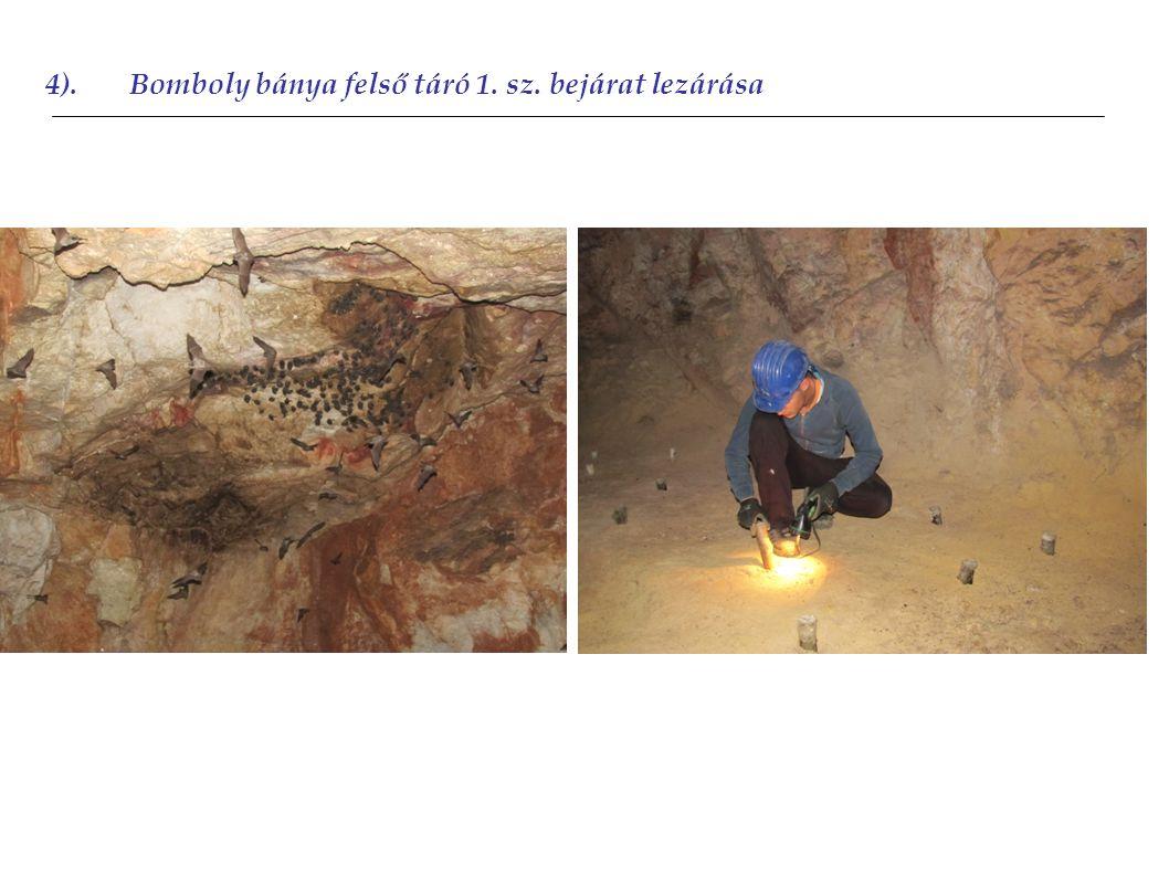 4).Bomboly bánya felső táró 1. sz. bejárat lezárása 2010